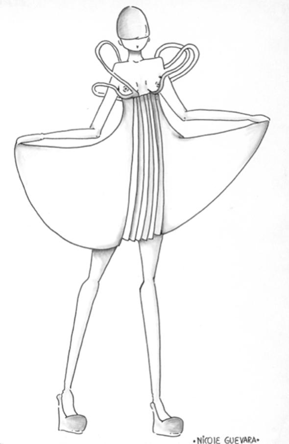Boceto de Nicole Guevara- estudiante de ESNE