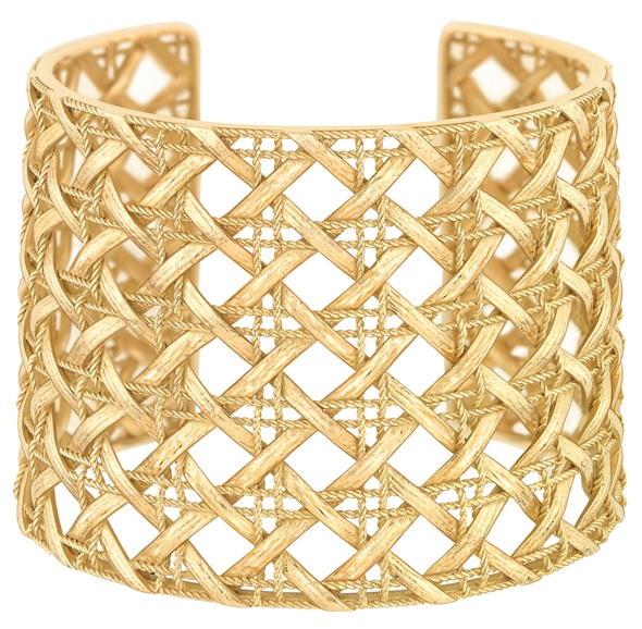 MY DIOR CUFF - YELLOW GOLD