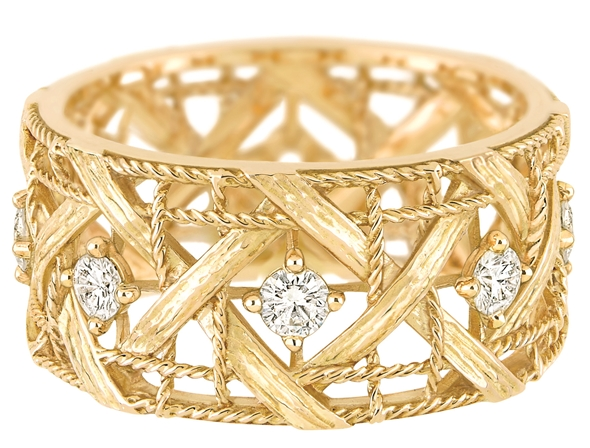 MY DIOR RING - YELLOW GOLD AND DIAMONDS