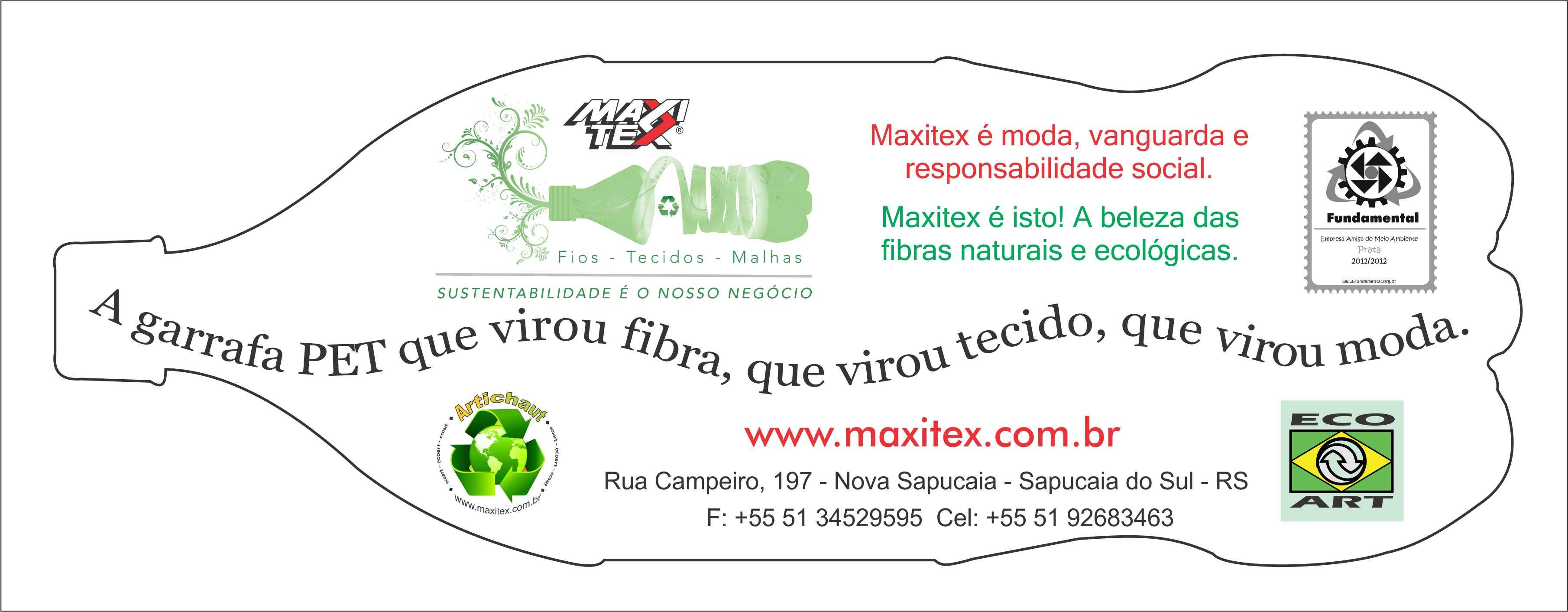 Folder garrafa Maxitex para feira Inspiramais
