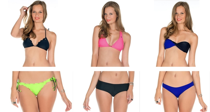 volcom bikinis simply solid