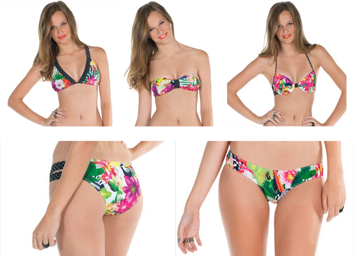 volcom swimwear tropical trip