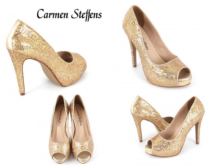 zapato dorado Carmen Steffens