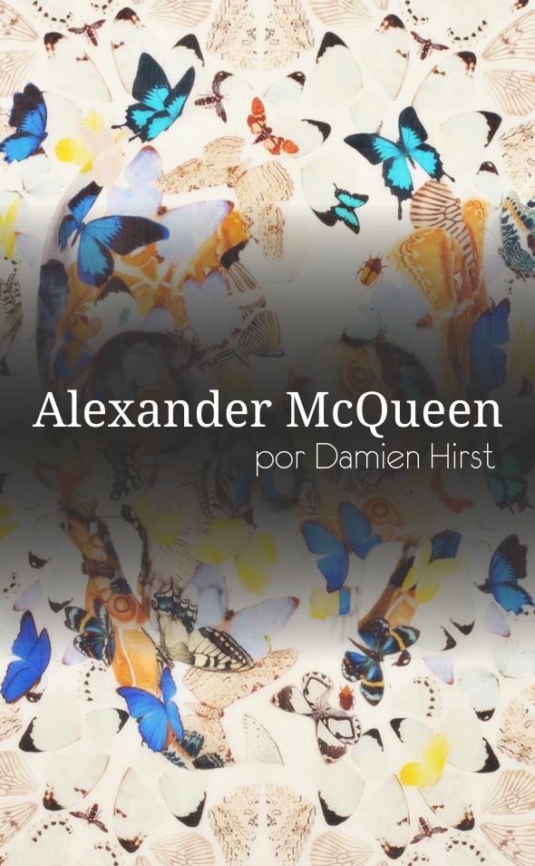 Alexander McQueen por Damien Hirst